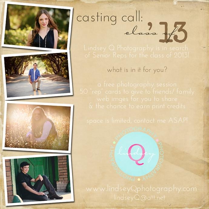 casting call senior reps
